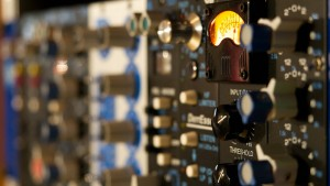 API 500 series modules used to mix song with recording studio voucher
